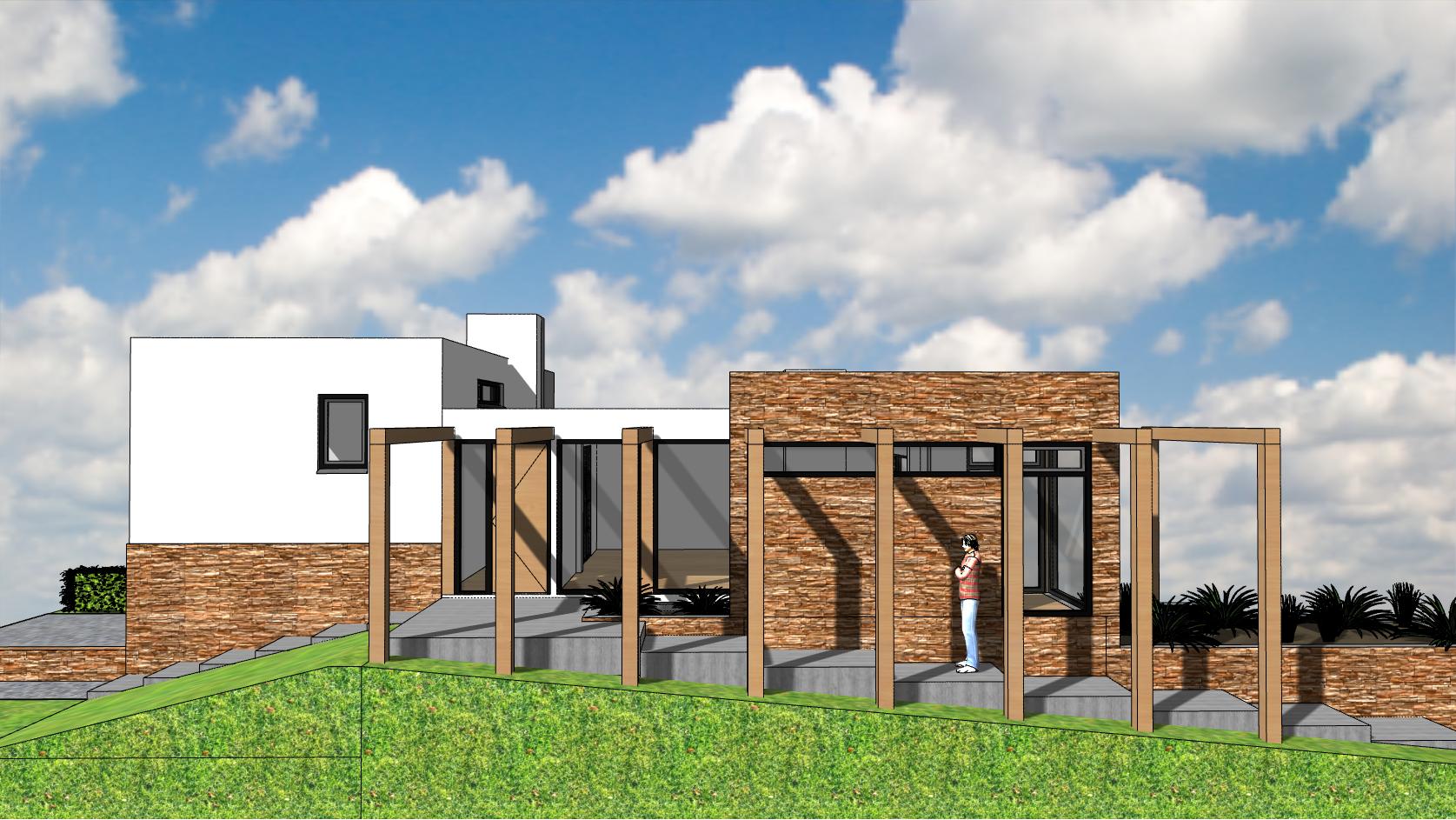 Ontwerp Architect Warnaars modernisering semibungalow Bennebroek - zijkant