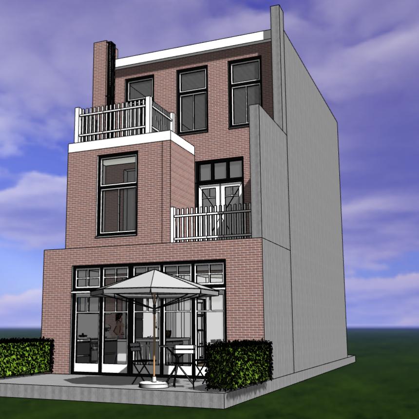 Verbouwing herenhuis Haarlem-Zuid | een ontwerp van architect Warnaars Bloemendaal
